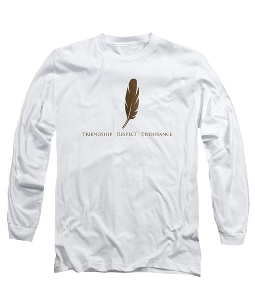 Brown Feather Long Sleeve T-Shirt