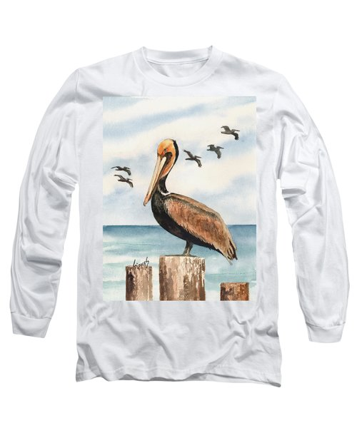 Brown Pelicans Long Sleeve T-Shirt