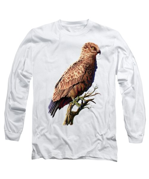 Brown Snake Eagle Long Sleeve T-Shirt