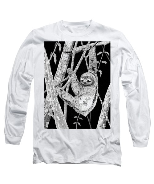Brown-throated Three-toed Sloth Long Sleeve T-Shirt