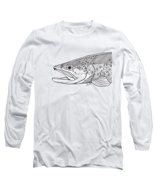 Brown Trout Long Sleeve T-Shirt by Jay Talbot