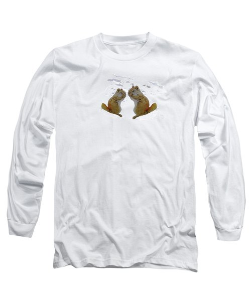 Brrr Just Chillin Long Sleeve T-Shirt by Mike Breau