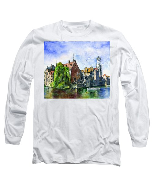 Bruges Belgium Long Sleeve T-Shirt by John D Benson
