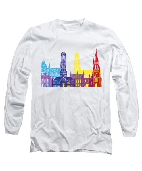 Bruges Skyline Pop Long Sleeve T-Shirt