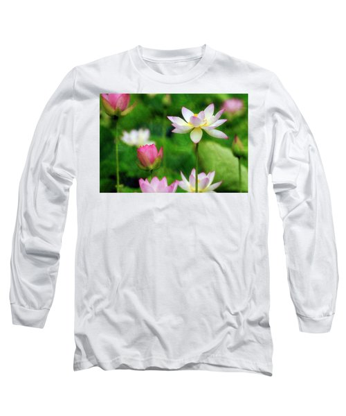 Brushed Lotus Long Sleeve T-Shirt