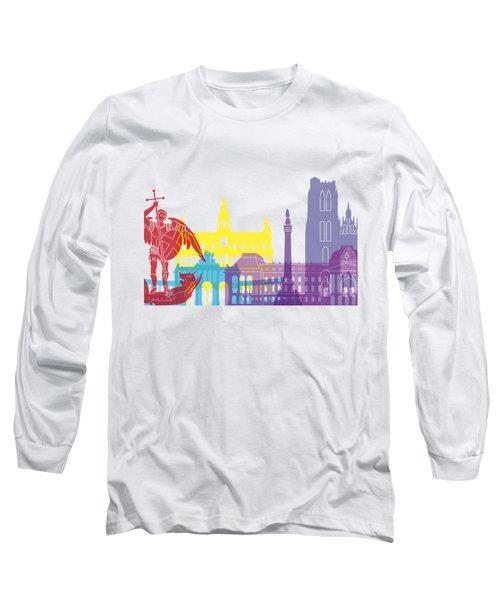 Brussels Skyline Pop Long Sleeve T-Shirt