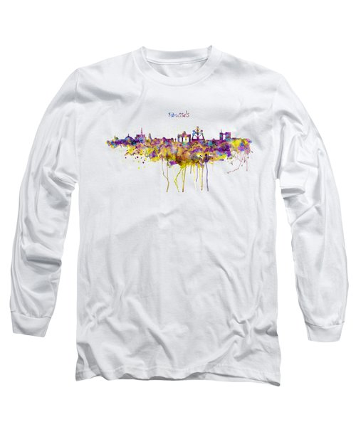 Brussels Skyline Silhouette Long Sleeve T-Shirt