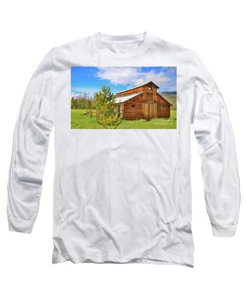 Buckaroo Barn 2 Long Sleeve T-Shirt by John Roberts