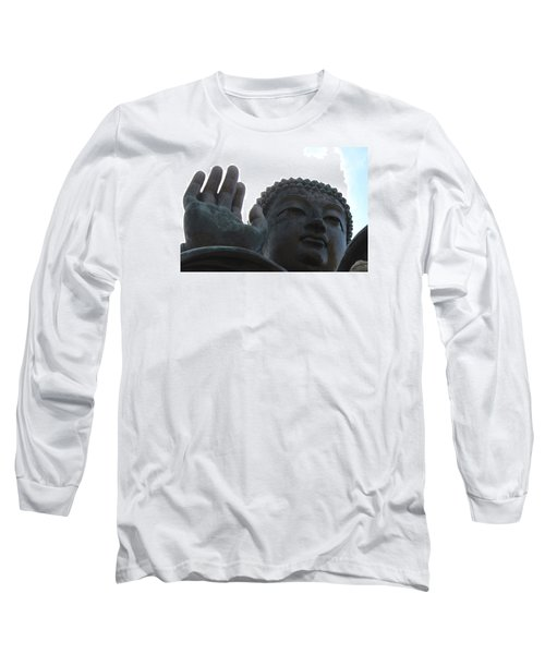 Buddha At Ngong Ping Village, Hong Kong Long Sleeve T-Shirt by Jennifer Mazzucco