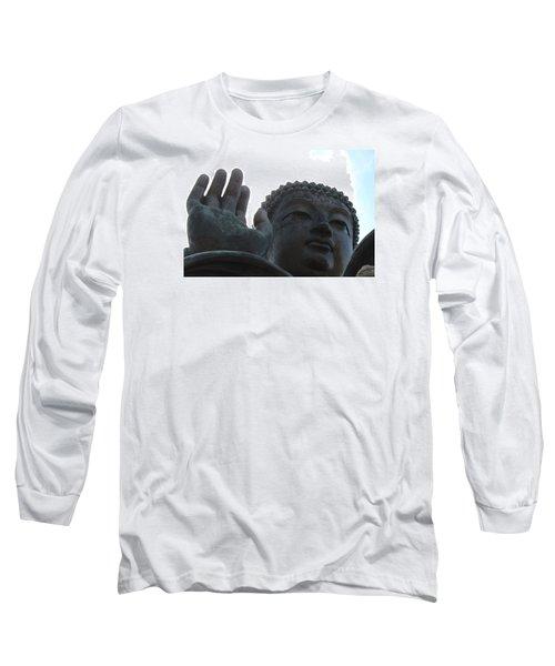 Buddha At Ngong Ping Village, Hong Kong Long Sleeve T-Shirt