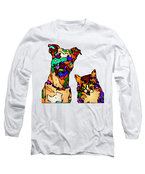 Buddies For Life. Pet Series Long Sleeve T-Shirt