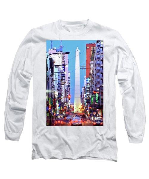 Buenos Aires Obelisk Long Sleeve T-Shirt by Bernardo Galmarini
