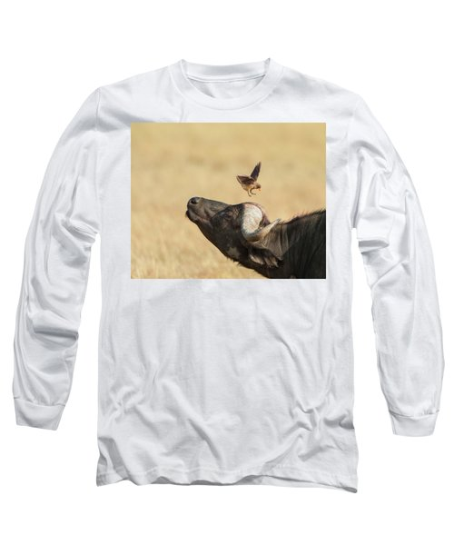 Buffalo And Oxpecker Bird Long Sleeve T-Shirt