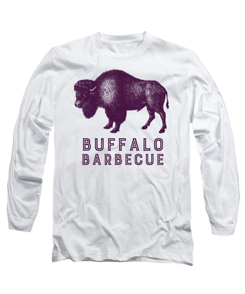 Buffalo Barbecue Long Sleeve T-Shirt by Antique Images