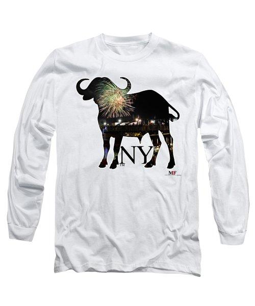 Buffalo Ny Canalside 4th Of July Long Sleeve T-Shirt by Michael Frank Jr