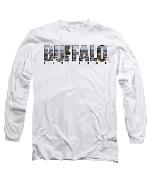 Buffalo Ny Snowy Cityscape Long Sleeve T-Shirt
