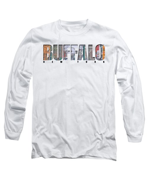 Buffalo Ny Snowy Downtown Long Sleeve T-Shirt