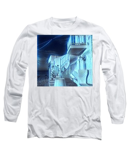 Long Sleeve T-Shirt featuring the photograph Building At Harbour  by Colette V Hera Guggenheim