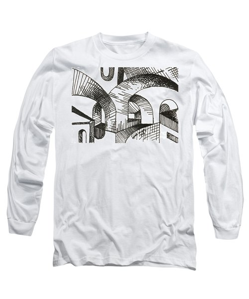 Buildings 1 2015 - Aceo Long Sleeve T-Shirt by Joseph A Langley