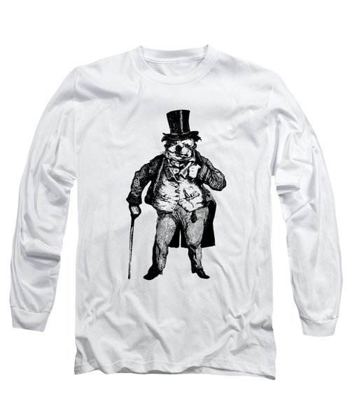 Bull Dog Grandville Transparent Background Long Sleeve T-Shirt