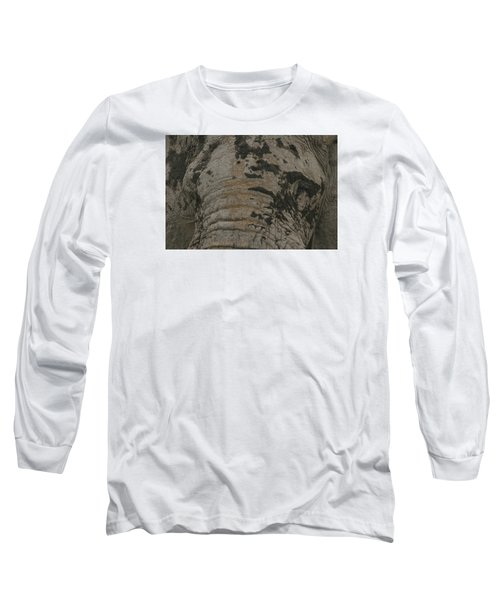 Long Sleeve T-Shirt featuring the photograph Bull Elephant Close-up by Gary Hall