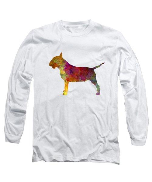 Bull Terrier In Watercolor Long Sleeve T-Shirt by Pablo Romero