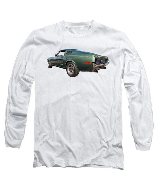 Bullitt - 1968 Mustang Fastback Long Sleeve T-Shirt by Gill Billington