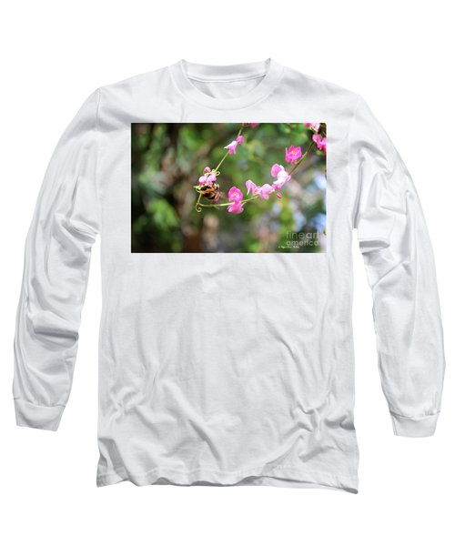 Long Sleeve T-Shirt featuring the photograph Bumble Bee1 by Megan Dirsa-DuBois