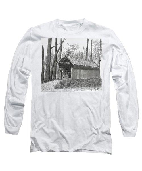 Bunker Hill Covered Bridge  Long Sleeve T-Shirt