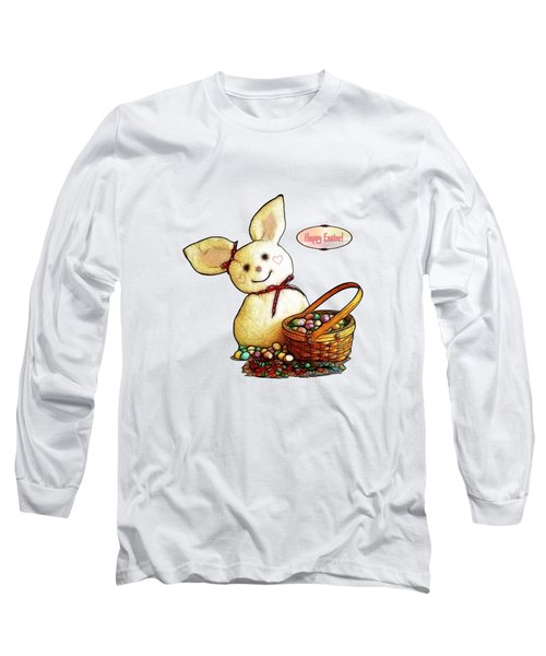 Bunny N Eggs Card Long Sleeve T-Shirt by Methune Hively