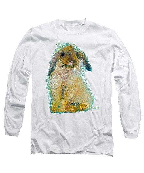 Bunny Rabbit Painting Long Sleeve T-Shirt by Jan Matson