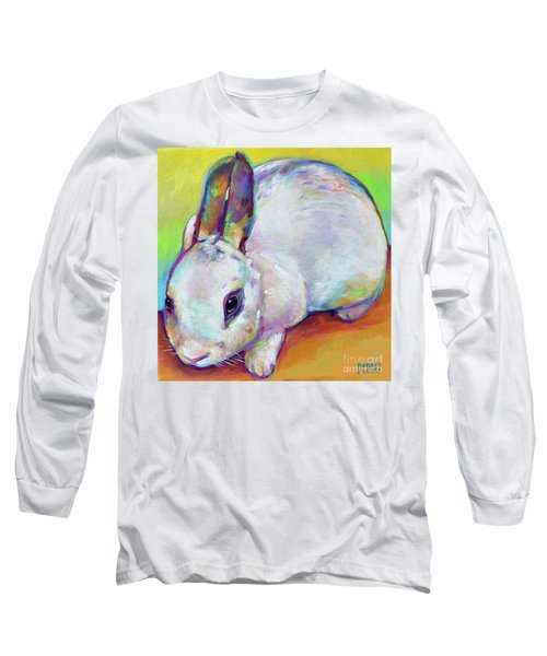 Long Sleeve T-Shirt featuring the painting Bunny by Robert Phelps