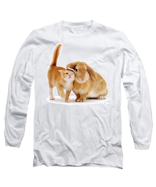 Bunny Rubbing Long Sleeve T-Shirt
