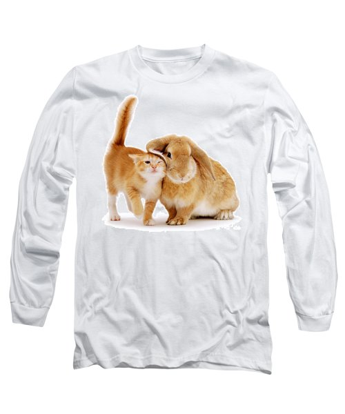 Bunny Rubbing Long Sleeve T-Shirt