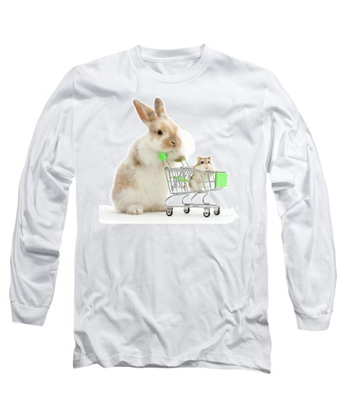 Bunny Shopping Long Sleeve T-Shirt