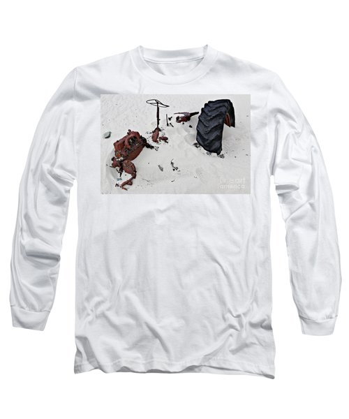 Long Sleeve T-Shirt featuring the photograph Buried Up To The Wheels by Stephen Mitchell