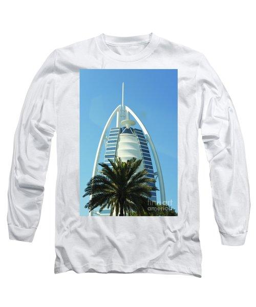 Burj Al Arab Long Sleeve T-Shirt by Hanza Turgul