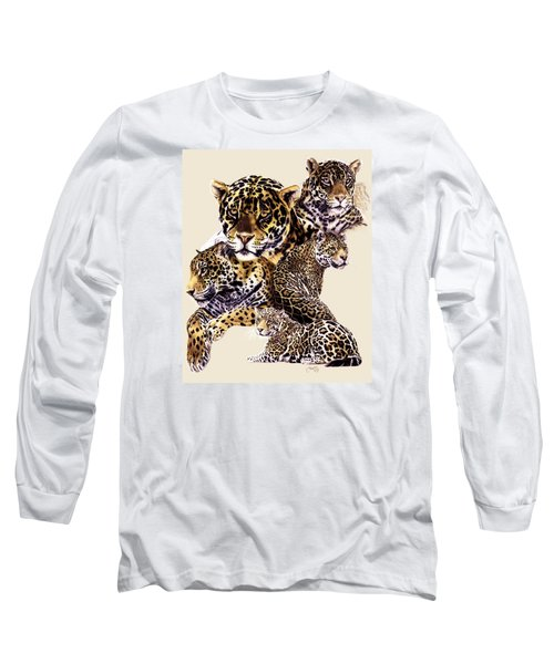 Long Sleeve T-Shirt featuring the drawing Burn by Barbara Keith