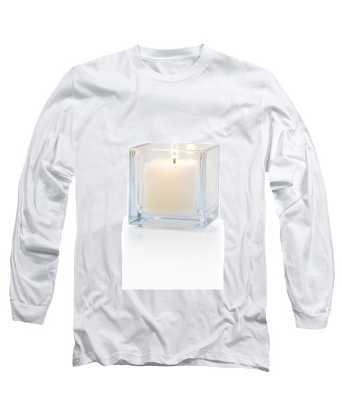 Burning Candle Side View 20 Degree Long Sleeve T-Shirt by Atiketta Sangasaeng