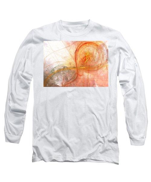 Burning Treble Clef Long Sleeve T-Shirt by Martin Capek