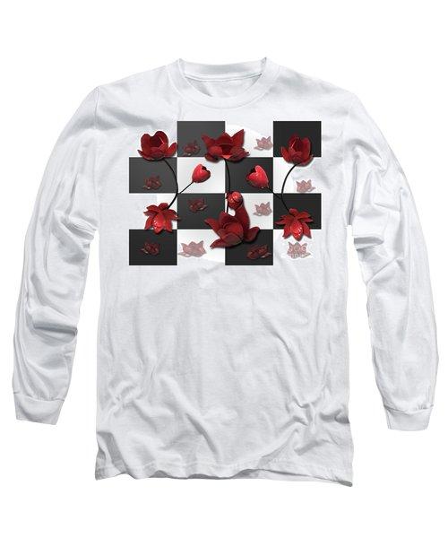 Burnt Crimson Flora Long Sleeve T-Shirt