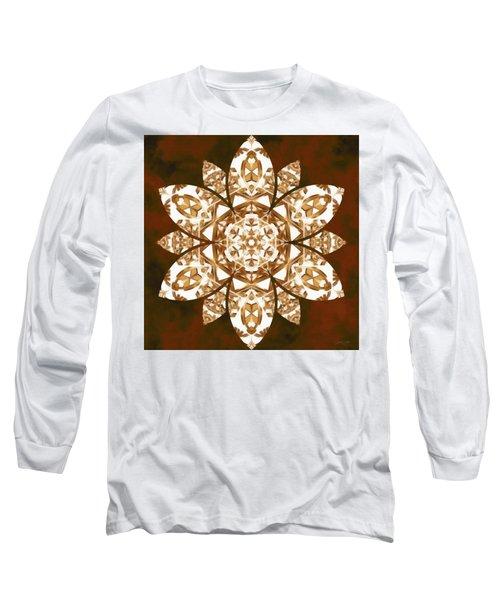 Long Sleeve T-Shirt featuring the digital art Burnt Geomatrix by Derek Gedney