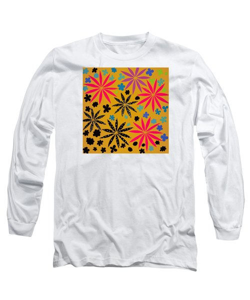 Long Sleeve T-Shirt featuring the mixed media Bursting Open by Gloria Rothrock