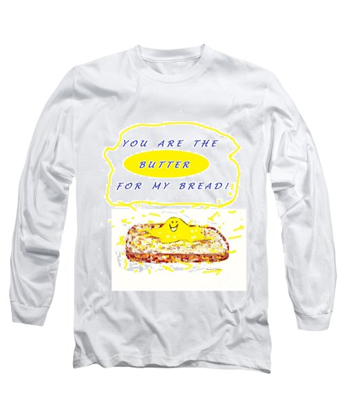 Long Sleeve T-Shirt featuring the drawing Butter For My Bread by Denise Fulmer