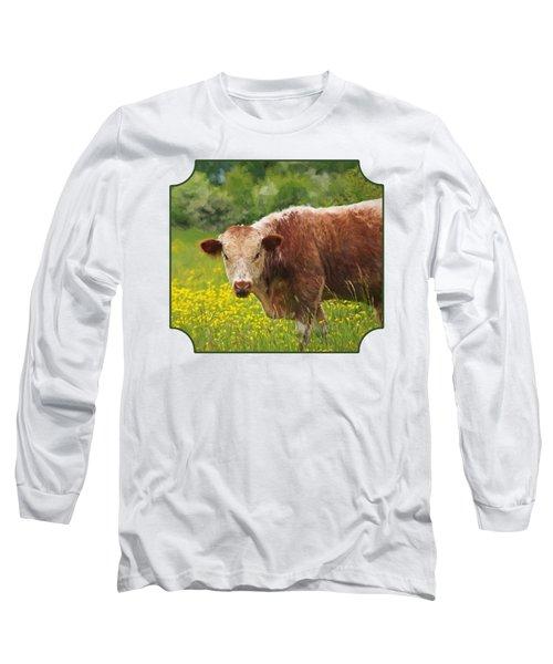 Buttercup - Brown Cow Long Sleeve T-Shirt