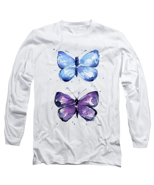 Butterflies Blue And Purple  Long Sleeve T-Shirt
