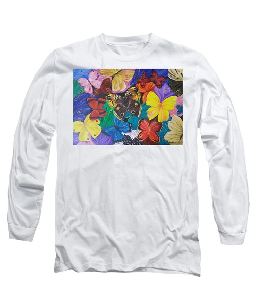 Butterflies Long Sleeve T-Shirt by Rita Fetisov