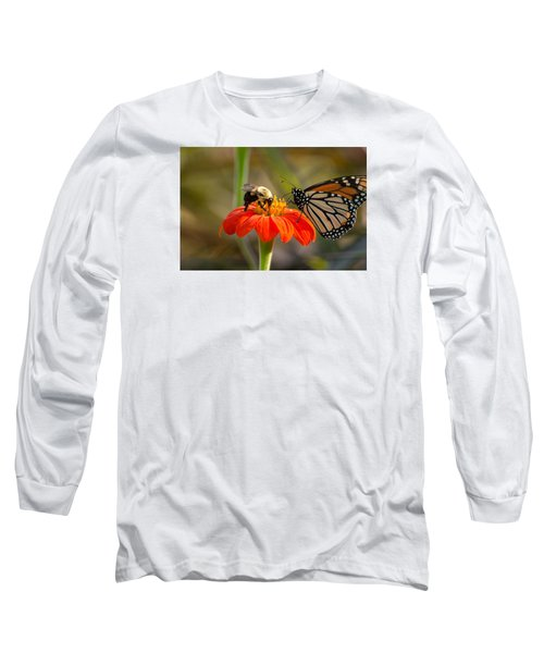 Butterfly And Bumble Bee Long Sleeve T-Shirt