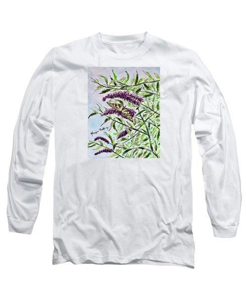 Butterfly Bush Long Sleeve T-Shirt