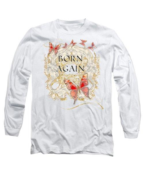 Butterfly Butterflies Swirling Born Again Christian Symbol Long Sleeve T-Shirt